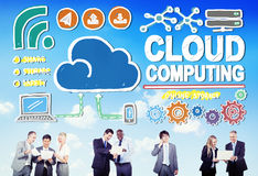 Cloud Computing Connection Network Internet Storage Concept Stock Image