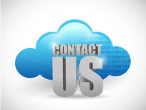 Cloud computing contact us illustration Stock Photo