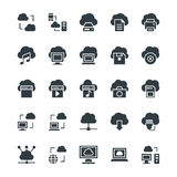 Cloud Computing Cool Vector Icons 1 stock image