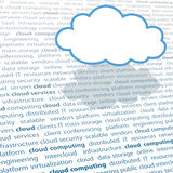 Cloud computing copy space IT text page Royalty Free Stock Image