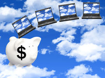 Cloud computing cost. Concept for the cost of cloud computing Stock Image
