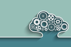 Cloud computing. Creative cloud background with gears. Eps10 vector for your design Stock Photo