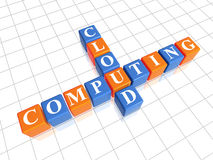 Cloud computing puzzle Royalty Free Stock Photo