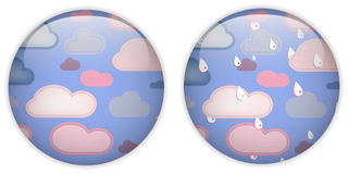 Cloud Computing Cute Icon Button Stock Photo