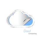 Cloud computing cutout Stock Photo