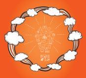 Cloud computing cycle  Stock Photography