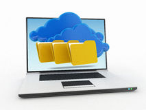 Cloud computing. 3d high quality render Stock Photo