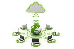 Cloud computing. 3d illustration of  Cloud computing Royalty Free Stock Image