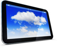 Cloud computing. 3D illustration of an cloud computing concept Royalty Free Stock Images
