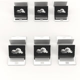 Cloud computing 3d sign on laptop computer. As concept Stock Images