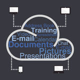 Cloud computing in dark background Stock Photos