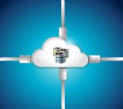 Cloud computing data base illustration design Stock Photo
