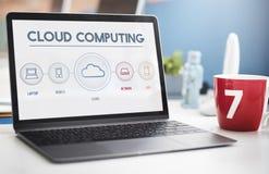 Cloud Computing Data Digital Storage Graphic Concept Stock Photography