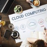 Cloud Computing Data Digital Storage Graphic Concept. People Using Cloud Computing Data Digital Storage Royalty Free Stock Image