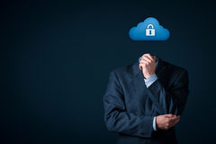 Cloud computing data security Royalty Free Stock Image