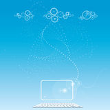 Cloud computing -data sotrage - social networking Stock Image