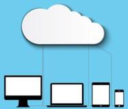 Cloud computing data storage Royalty Free Stock Photo