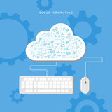 Cloud computing. Data storage network technology. Stock Image