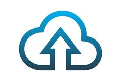 Cloud computing data upload logo vector dsign. Cloud computing data upload access logo vector dsign concept Royalty Free Stock Image
