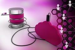 Cloud computing database Royalty Free Stock Photos