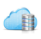 Cloud computing and database Stock Photo