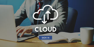 Cloud Computing Database Server Network Concept Royalty Free Stock Photos