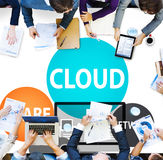 Cloud Computing Database Transfer Internet Technology Concept Royalty Free Stock Photos