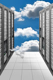 Cloud Computing Datacenter. A Conceptual vision of a Datacenter on the cloud (Cloud Computing Stock Images