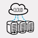 Cloud computing design. Cloud computing graphic design , vector illustration Stock Photography