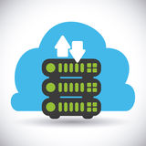 Cloud computing design. Cloud computing graphic design , vector illustration Royalty Free Stock Photo