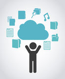 Cloud computing design. Cloud computing graphic design , vector illustration Royalty Free Stock Photos