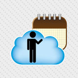 Cloud computing design. Illustration eps10 graphic Royalty Free Stock Photos