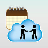 Cloud computing  design. Cloud computing design,  illustration eps10 graphic Royalty Free Stock Photography