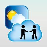 Cloud computing  design. Cloud computing design,  illustration eps10 graphic Stock Image