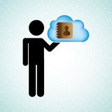 Cloud computing design. Illustration eps10 graphic Stock Photo