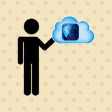 Cloud computing design. Illustration eps10 graphic Royalty Free Stock Image