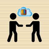 Cloud computing  design Stock Photo