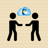 Cloud computing  design. Cloud computing design,  illustration eps10 graphic Royalty Free Stock Image