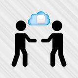 Cloud computing  design Royalty Free Stock Images