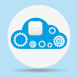 Cloud computing design. Illustration eps10 graphic Royalty Free Stock Photos