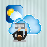 Cloud computing design. Illustration eps10 graphic Royalty Free Stock Photography