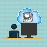 Cloud computing design. Illustration eps10 graphic Stock Photos