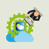Cloud computing design Stock Photography