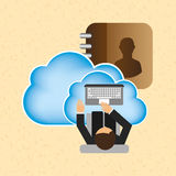 Cloud computing design Stock Photo
