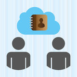 Cloud computing design Royalty Free Stock Photography