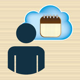 Cloud computing design. Illustration eps10 graphic Stock Photos
