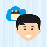 Cloud computing design. Illustration eps10 graphic Stock Image