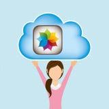 Cloud computing design. Illustration eps10 graphic Royalty Free Stock Photo
