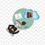 Cloud computing design Stock Image