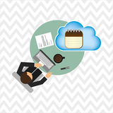 Cloud computing design Royalty Free Stock Image